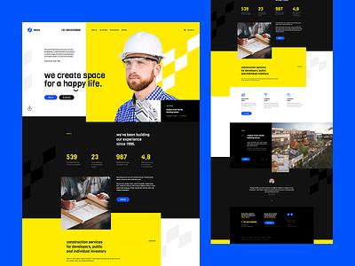 Setra 👷♂️ app theme wordpress ux ui design minimalistic minimalist construction landingpage onepage webdesigner website webdesign web