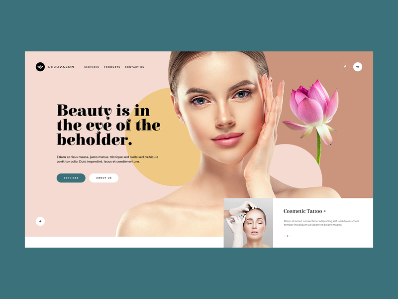 Rejuvalon 💎 wordpress agency design ux ui minimalism minimalist mockup beauty cosmetic webdesigner webdesign web website landingpage onepage