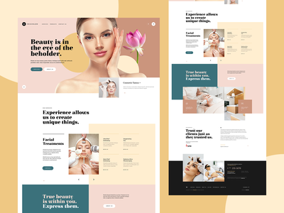Rejuvalon 💎 branding wordpress ux ui wellness spa clinic beauty app mockup landingpage onepage webdesigner webdesign website web
