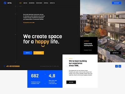 Setra 👷♂️ poland agency design ux ui portfolio architect construction branding wordpress theme landingpage onepage webdesigner webdesign web website