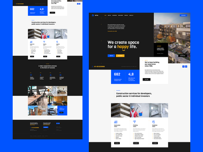 Setra 👷‍♂️ poland agency design ux ui portfolio architect construction branding wordpress theme landingpage onepage webdesigner webdesign web website