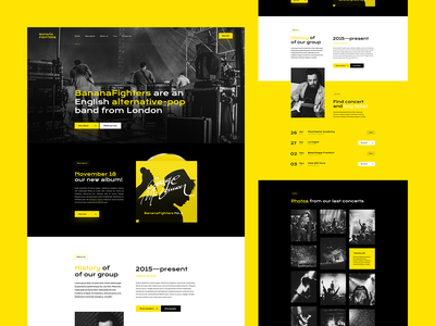 Banana Fighters 🍌🎸 ux ui poland visiontrust agency branding app musicplayer player spotify wordpress onepage ladingpage webdesigner webdesign website web musicband music
