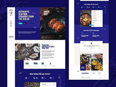 Babbaluci 🦐🐙🐟 wordpress design vector illustration seafood sea food restaurant onepage landingpage ux ui webdesigner webdesign website web
