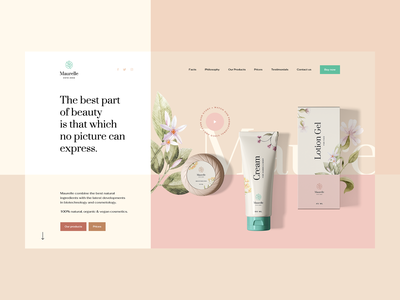Maurelle 🌿 branding design web visiontrust ux ui flora illustration packing cosmetic cosmetics nature onepage landingpage webdesigner webdesign website