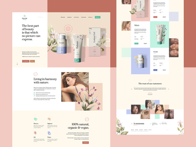 Maurelle 🌿 vector packing branding visiontrust design web nature cosmetics ux ui onepage landingpage webdesigner webdesign website