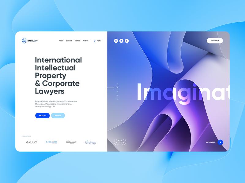 Rahul Dev 💡 theme wordpress poland agency design morph abstract hero ux ui illustration 3d landingpage onepage webdesigner webdesign website web