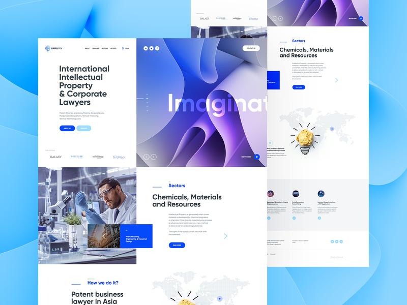 Rahul Dev 💡 vector wordpress branding agency illustration 3d morph onepage landingpage ux ui design webdesigner webdesign website web