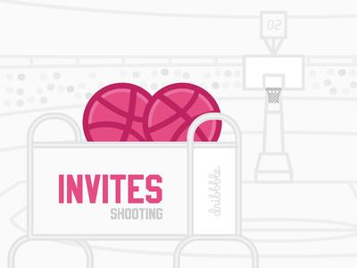 2 Dribbble Invites illustration shot designers playground players invites invite invitation giveaway free dribbble vector