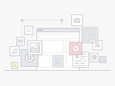 Illustration of website creation