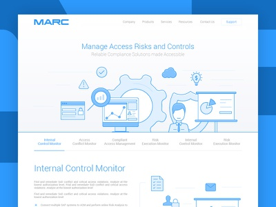 Main page for MARC website template site illustration line website web ux ui main page design