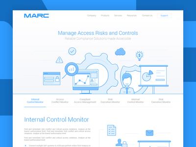 Main page for MARC website template site illustration line website web ux ui main page design