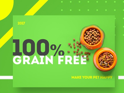 Grain free - animal feed clean feed green grain animal type minimal design colour color 2017 pets