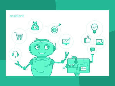 Robot assistant for IT company