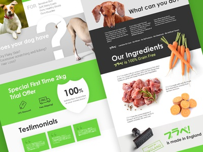 Design a landing page for Planet Pet products
