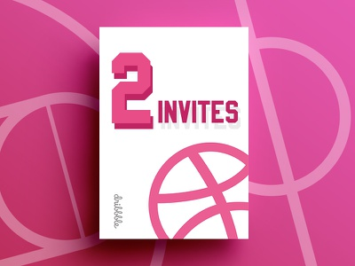 2 Dribbble Invites Giveaway vector shot playground players invites invite invitation giveaway free dribbble designers
