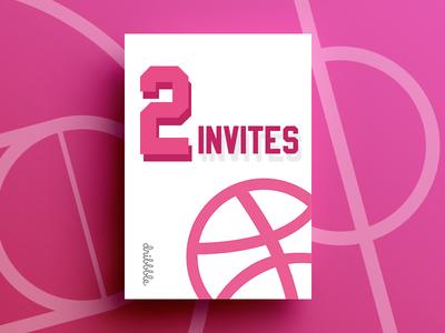 2 Dribbble Invites Giveaway vector shot playground players invites invite invitation giveaway free dribbble designers