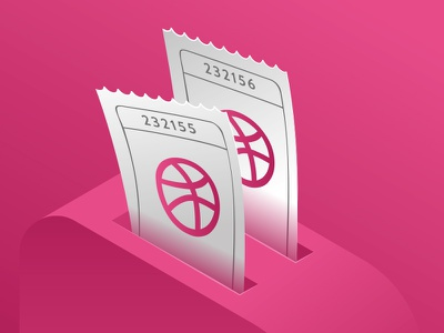 2 Dribbble Invites Giveaway toster vector shot ticket players invites invite invitation giveaway free dribbble designers