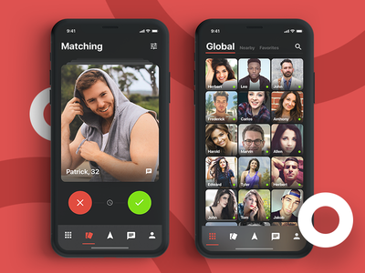 Matching app connection black clean prototyping mobile app design ux ui malipix matching match
