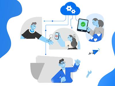 Live - Built for all kinds of teams developer qa testing cloud browserstack graphic illustration