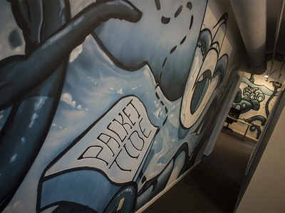 Murals for the new Packet Tide offices