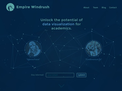 Landing page for Empire Windrush