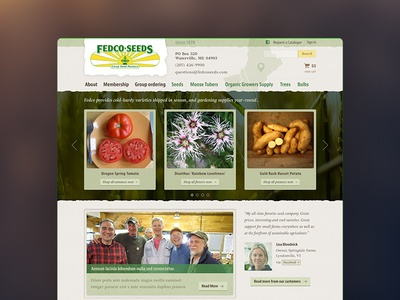 Fedco Seeds Homepage Concept