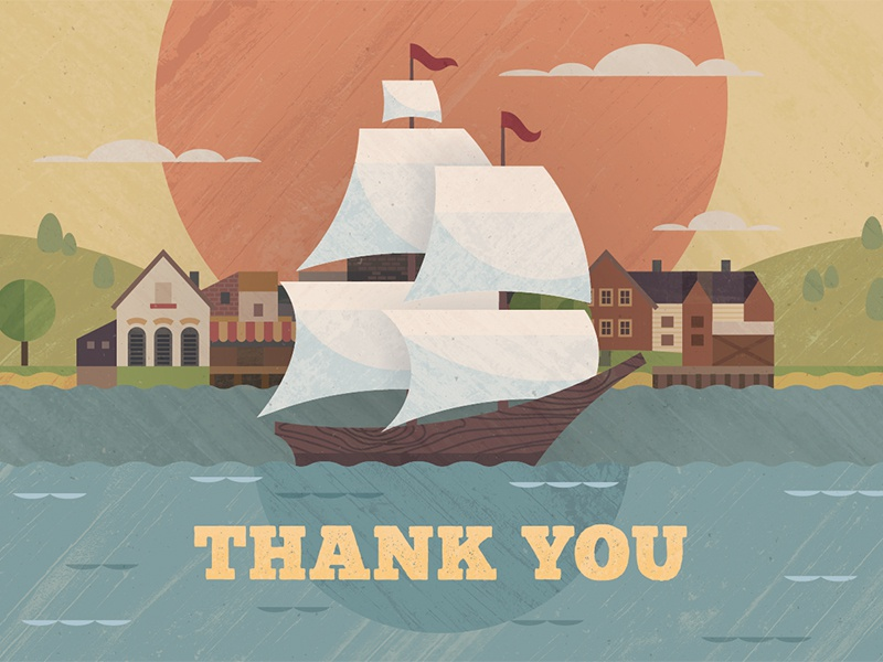 Thank You Card Illustration illustration card print color textures