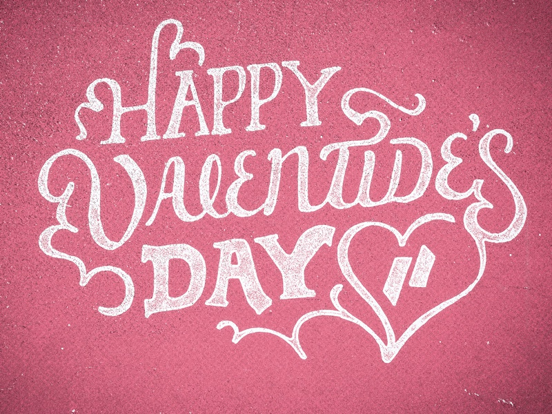 Valentide's Day lettering type hand lettering texture valentines