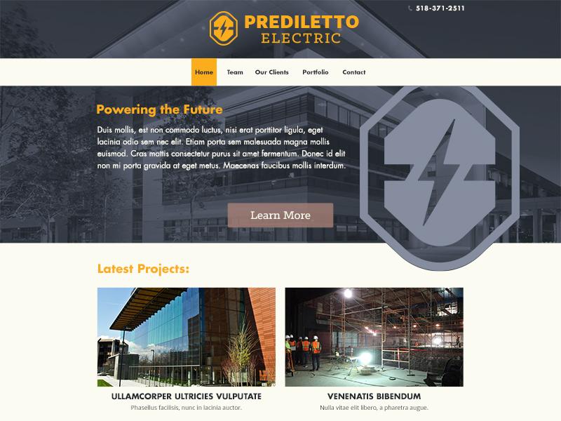 Homepage Concept web design branding design