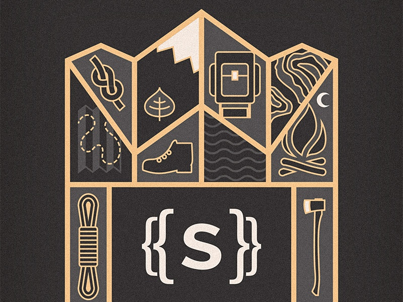 Statamic T-shirt Illustration wilderness t-shirt illustration