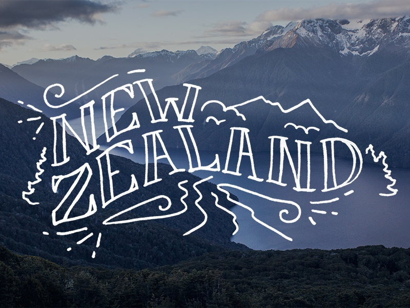 New Zealand photography hand-lettering lettering type