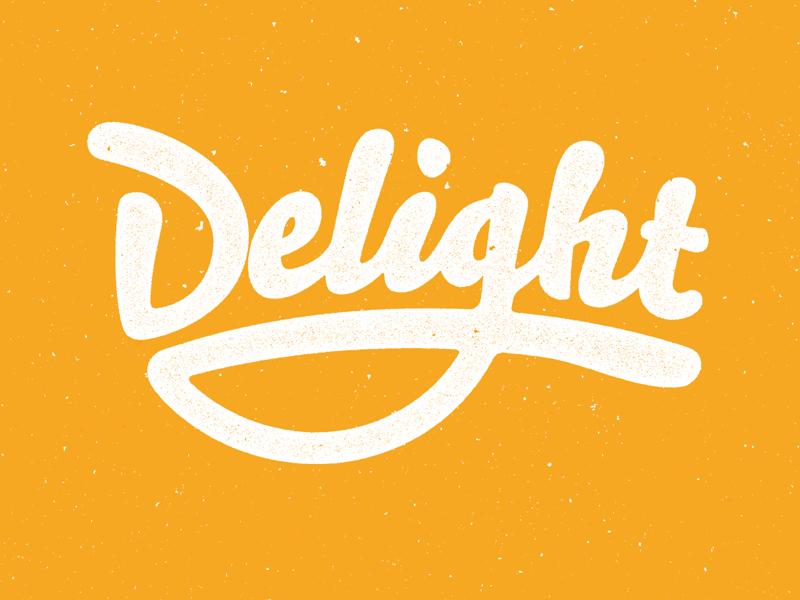 Delight logotype color brand logo