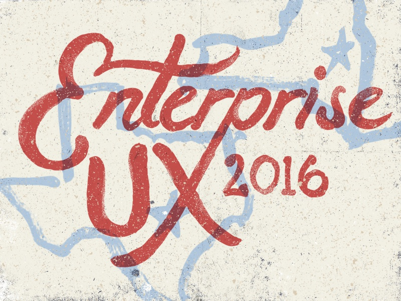 Enterprise UX color texture hand lettering