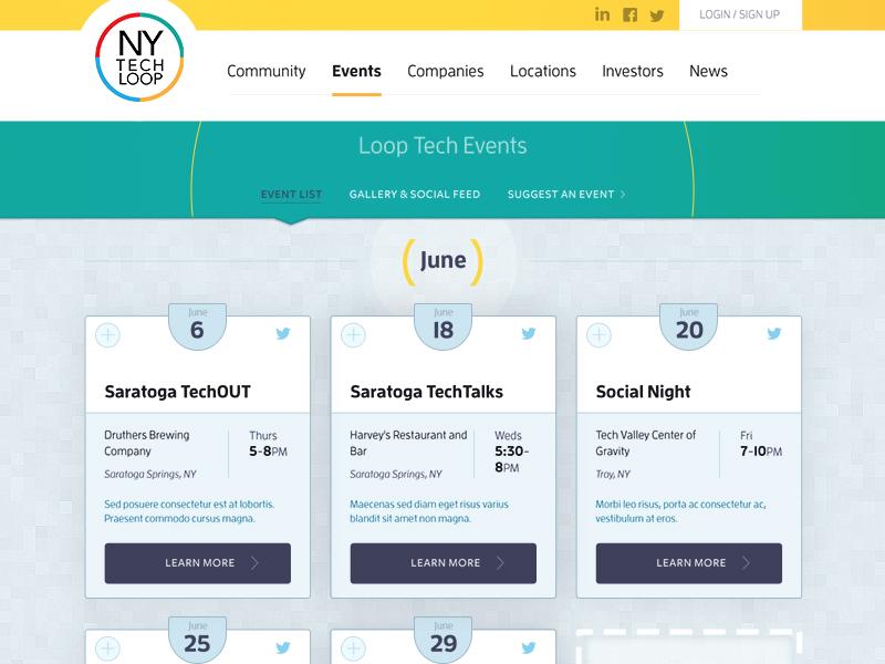NY Tech Loop Site ui social web design web