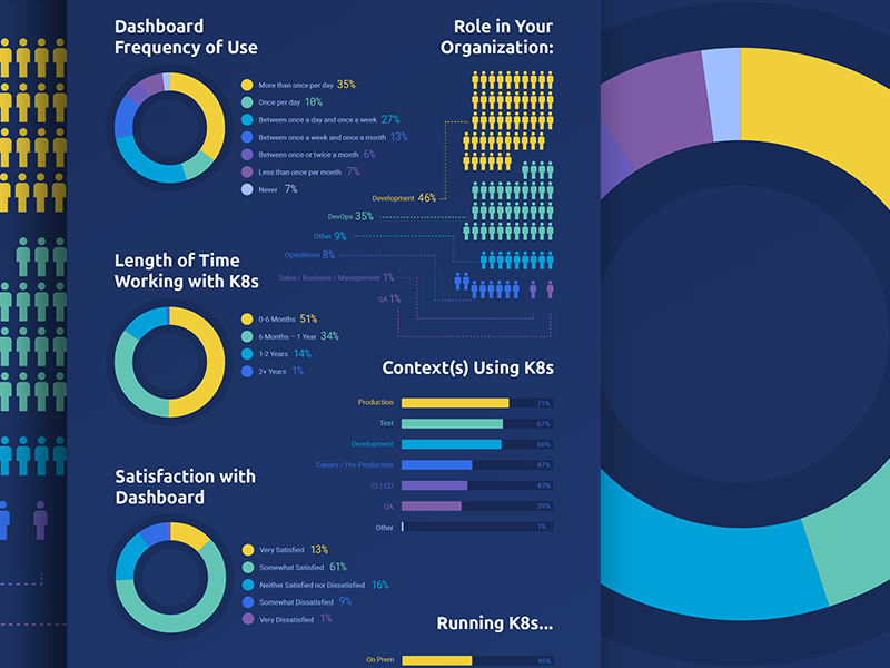 kubernetes survey infographic by daniel romlein dribbble. Black Bedroom Furniture Sets. Home Design Ideas