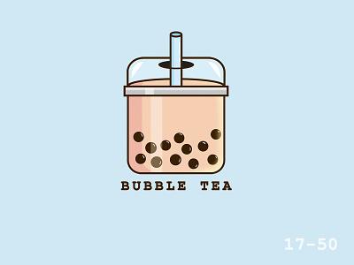 50 Days Of Vector Challenge [ 17/50 Food Series ] bubbletea bubble tea bubble illustrations illustrator food cartoon 100daysofvector 100daysofillustration vector logo illustration icon design cute