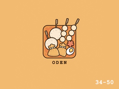 50 Days Of Vector Challenge [ 34/50 Food Series ] oden illustrator food cartoon 100daysofvector 100daysofillustration vector logo illustration icon design cute