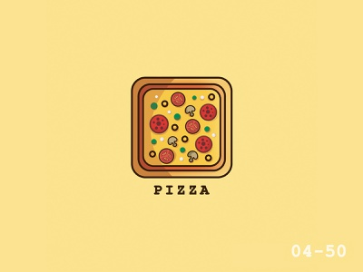 50 Days Of Vector Challenge [ 4/50 Food Series ] pizza illustrator food cartoon 100daysofvector 100daysofillustration vector logo illustration icon design cute