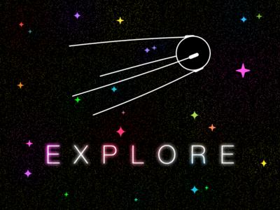 Explore starry stars space sputnik explore