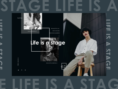 Fluttuo website design - life is a stage