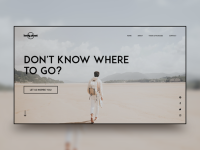 Lonely Planet website design