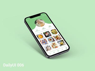 #DailyUI006 uidesign design ui 006 userprofile profile user healthy app food ux daily ui dailyui dailyui006