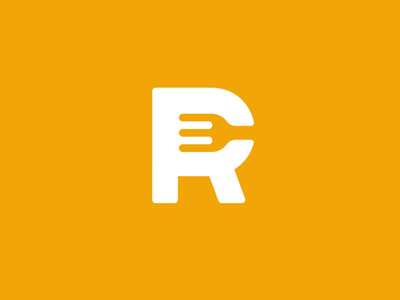 Restaurant Club Logo Animation orange app splashscreen folk plate pin loop after effects animation motion logo