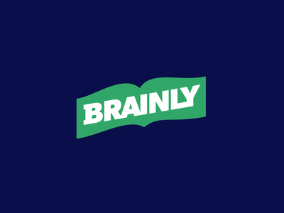 Brainly Textbook Detective read learn after effects loop school leaf pages book branding logo motion graphics animation