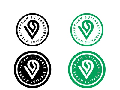 Vegan Suitable set vegan branding logo