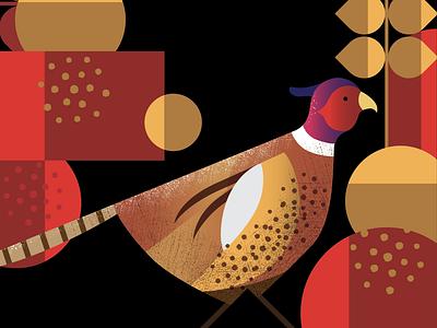 Pheasant Illustration label labelling branding brand pheasant nature illustration bird