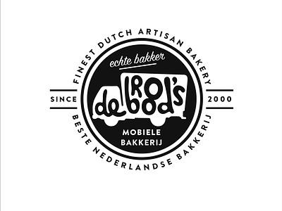 DeBrood Bakkers hand lettering typography bread logo branding bakery logo bakery