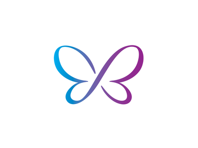 Perpetual Butterfly infinity nature branding logo butterfly