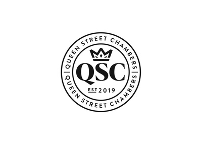 Queen Street Chambers lawyer legal crown identity identitydesig branding brand seal logo
