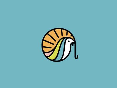 Early Bird environment nature logo branding illustration early bird dawn worm bird